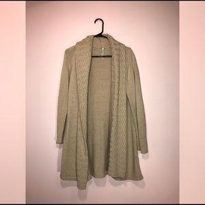 Sweaters - Long Tan Cardigan